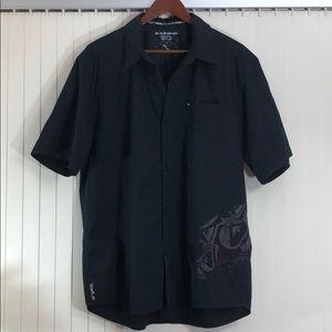 QUICKSILVER Black Button Down Shirt XL